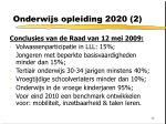 onderwijs opleiding 2020 2