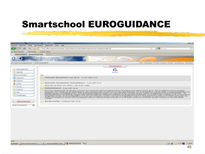 Smartschool EUROGUIDANCE