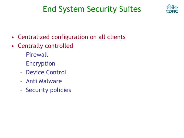 End System Security Suites