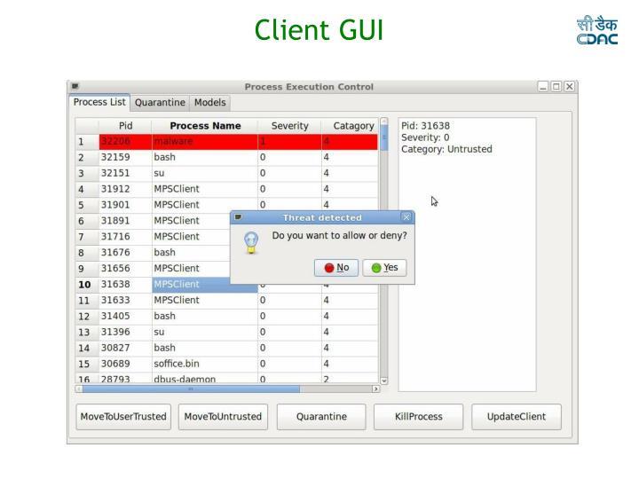 Client GUI