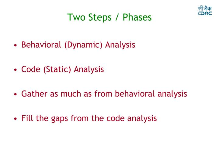 Two Steps / Phases