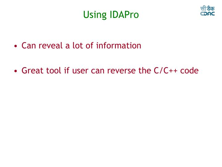 Using IDAPro