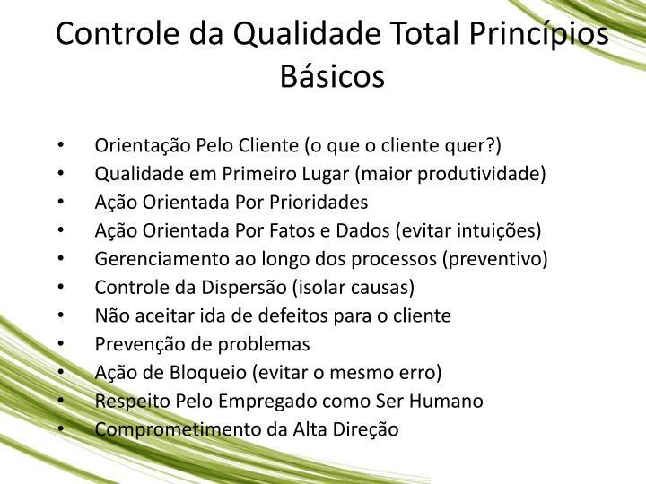 Controle da Qualidade Total Princpios Bsicos