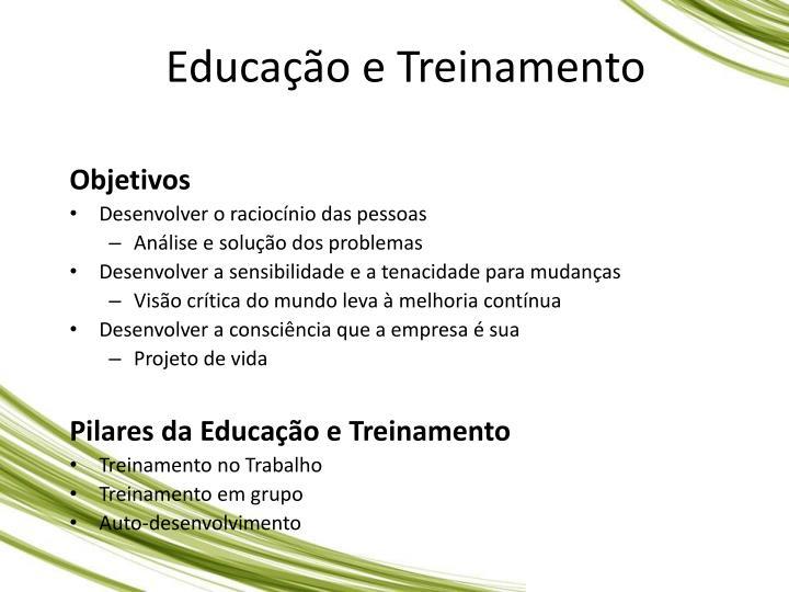 Educao e Treinamento