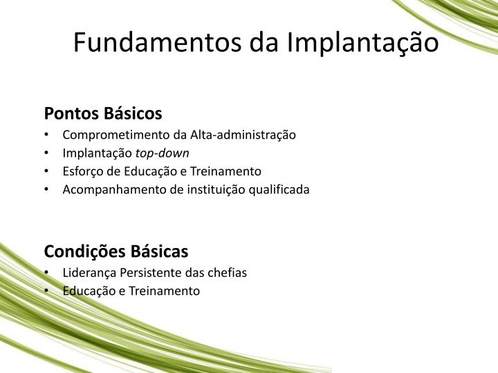 Fundamentos da Implantao
