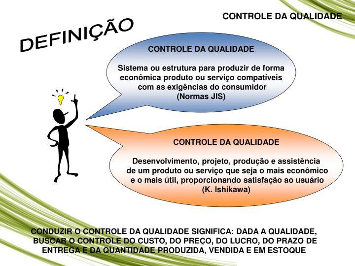 CONTROLE DA QUALIDADE