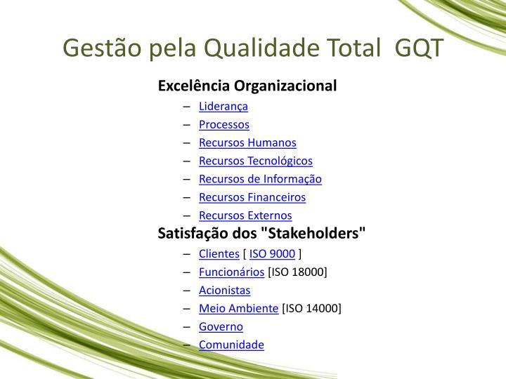 Gesto pela Qualidade Total  GQT