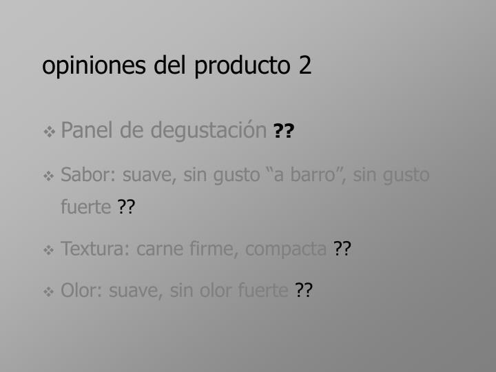 opiniones del producto 2