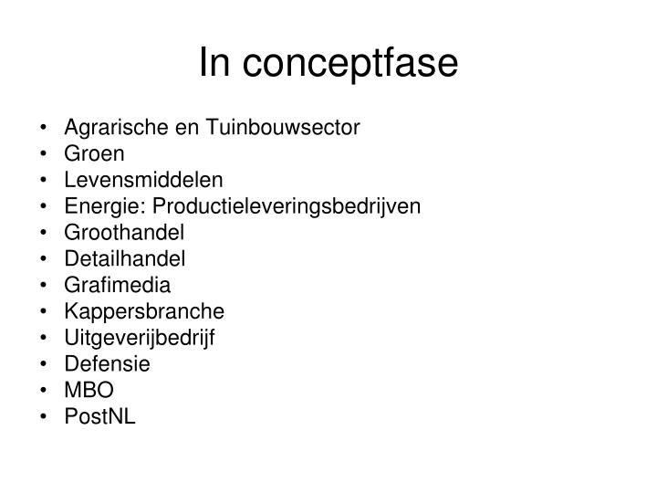 In conceptfase