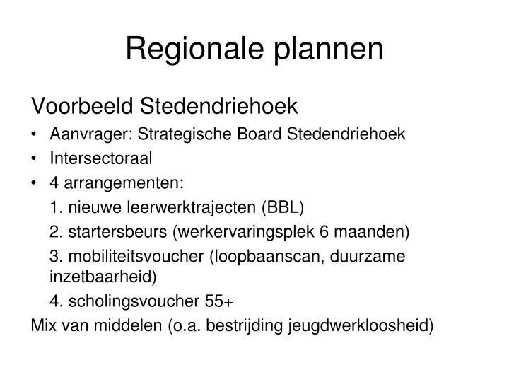 Regionale plannen
