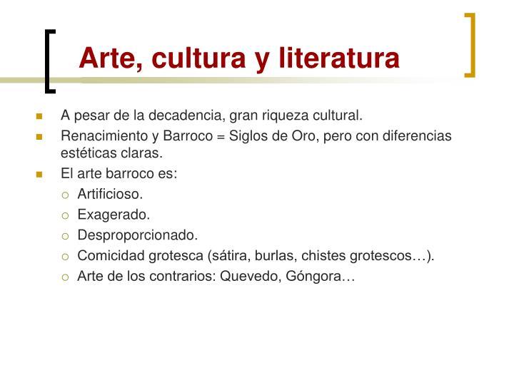 Arte, cultura y literatura
