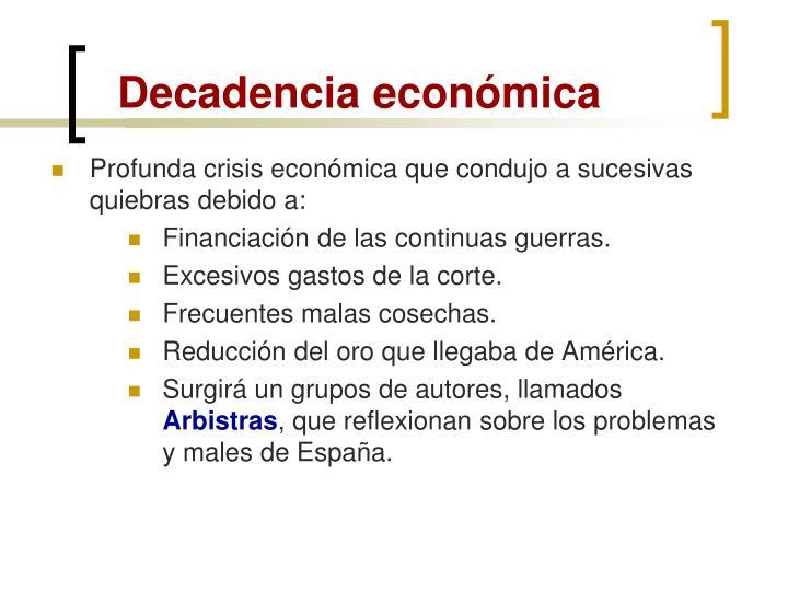 Decadencia económica