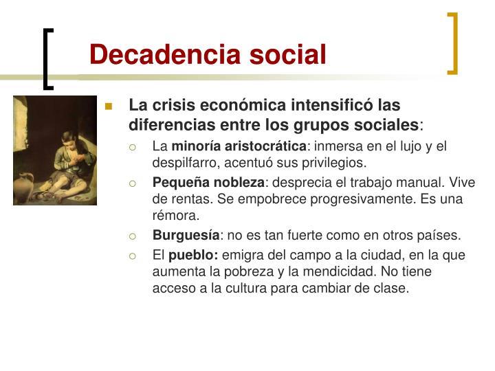 Decadencia social