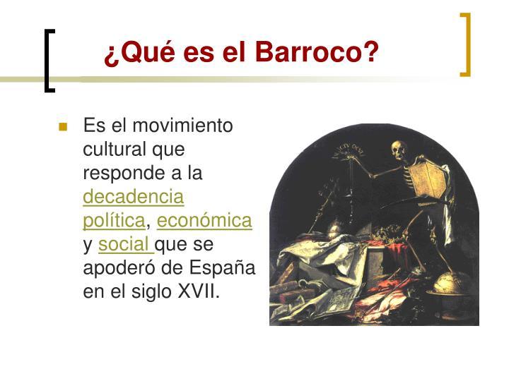 ¿Qué es el Barroco?