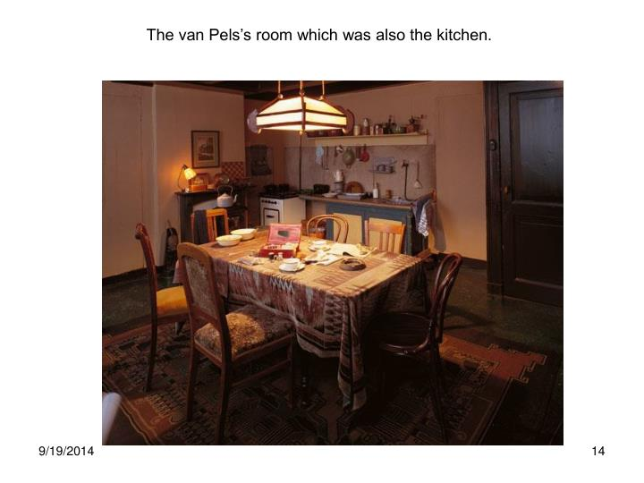 The van Pels's room which was also the kitchen.