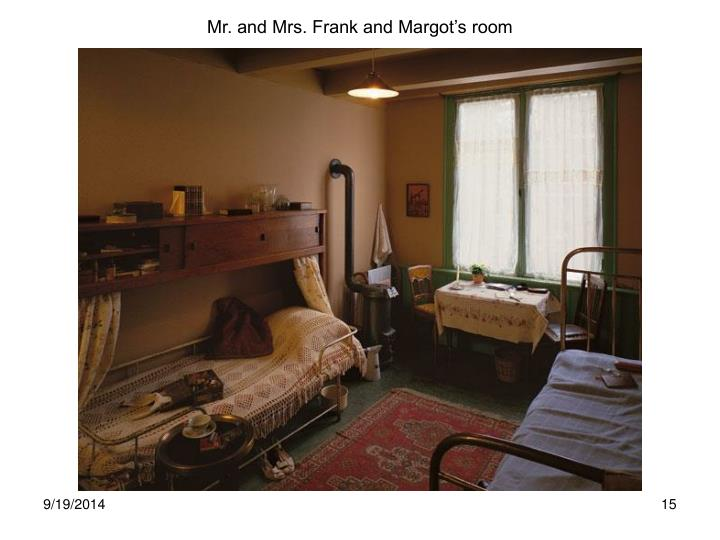 Mr. and Mrs. Frank and Margot's room