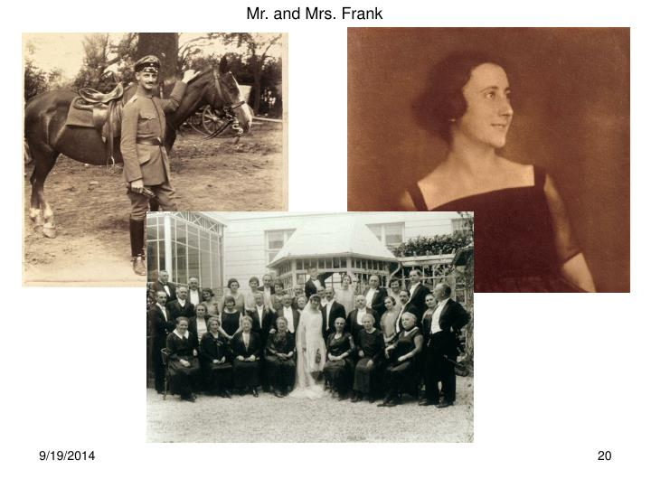 Mr. and Mrs. Frank