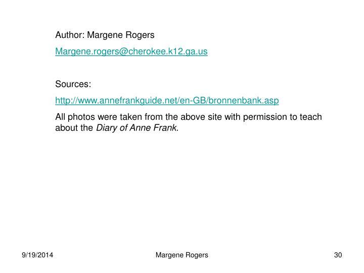 Author: Margene Rogers