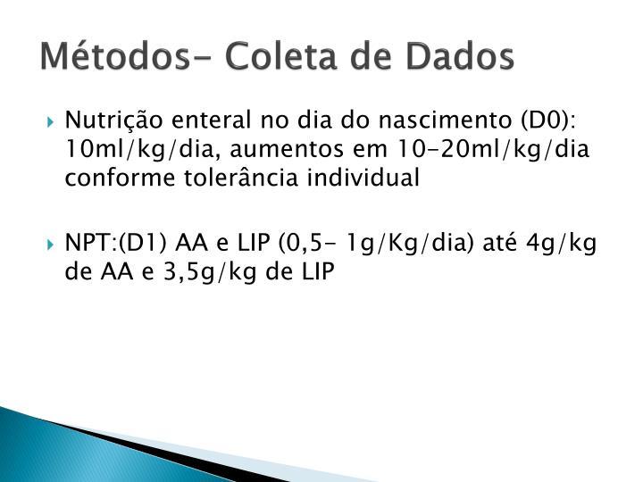 Mtodos- Coleta de Dados