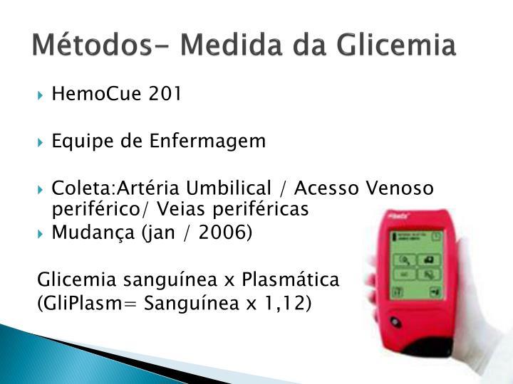 Mtodos- Medida da Glicemia