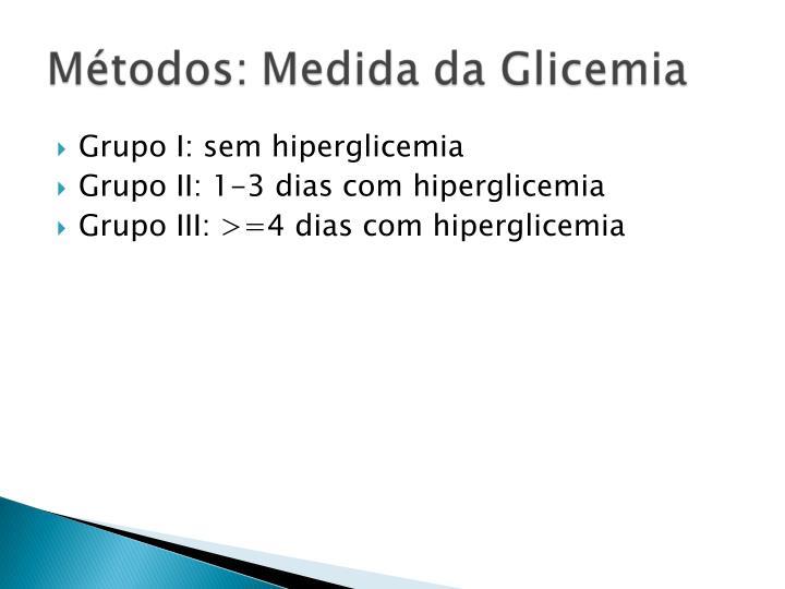 Grupo I: sem hiperglicemia