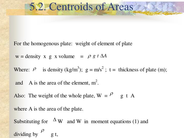 5.2. Centroids of Areas