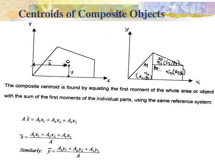 Centroids of Composite Objects