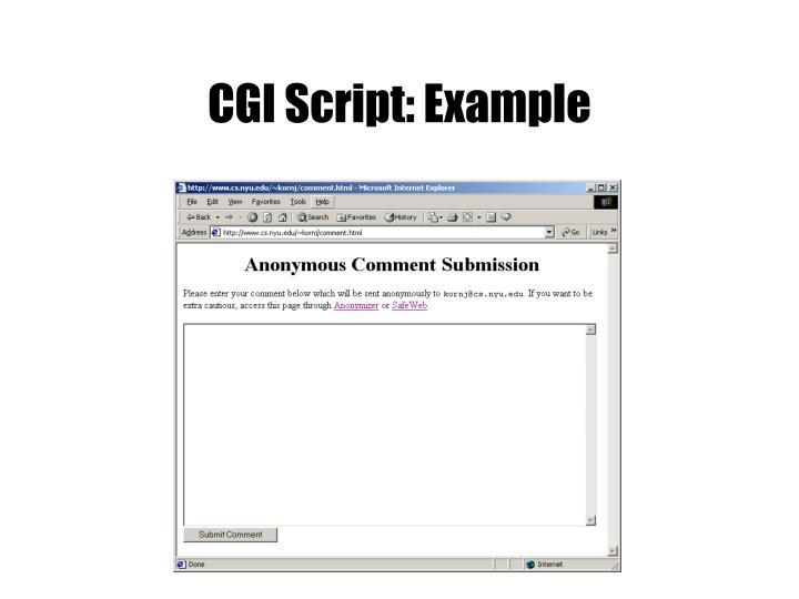 CGI Script: Example
