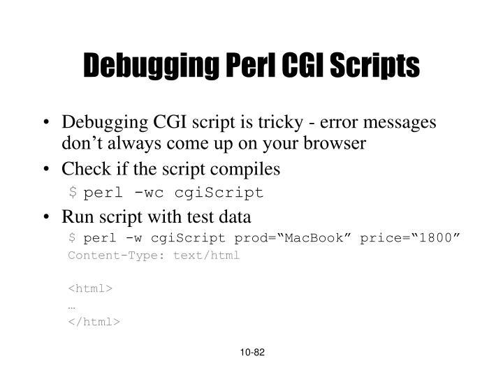 Debugging Perl CGI Scripts
