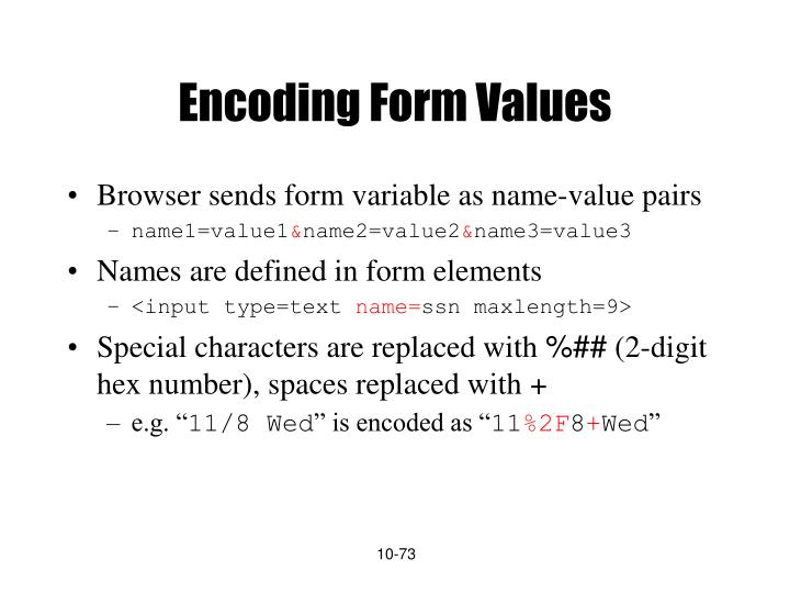 Encoding Form Values