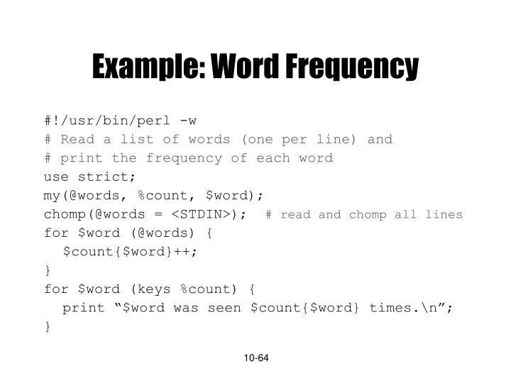 Example: Word Frequency