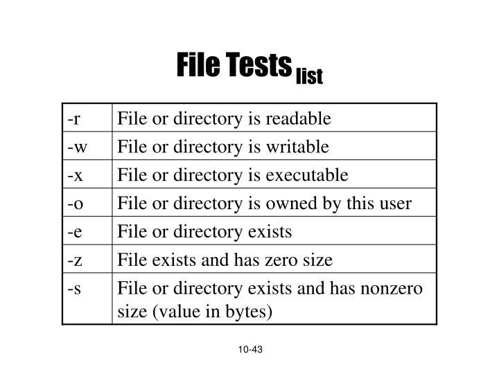 File Tests