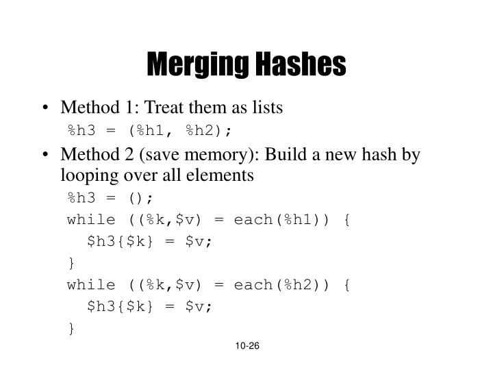 Merging Hashes
