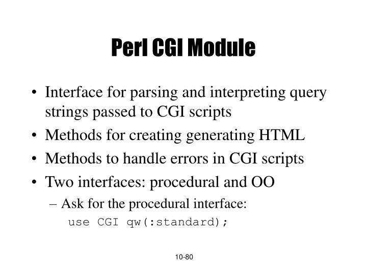 Perl CGI Module