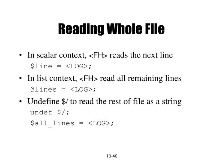 Reading Whole File