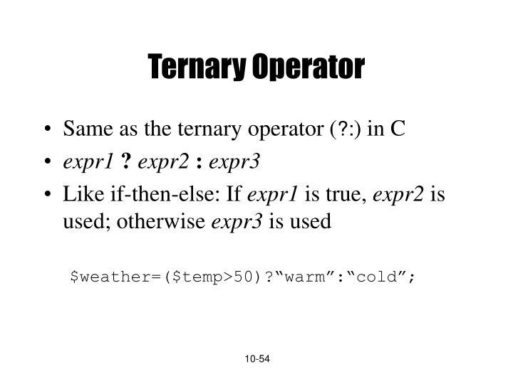 Ternary Operator