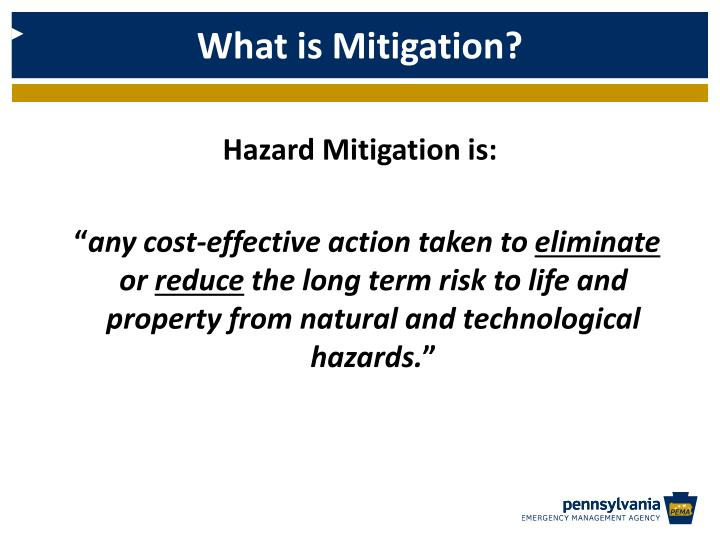 Hazard Mitigation