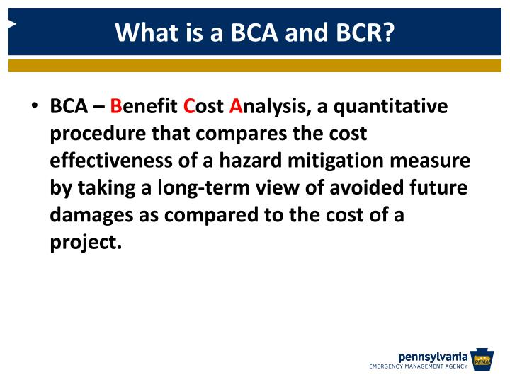 What is a BCA and BCR?
