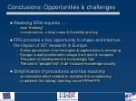 conclusions opportunities challenges