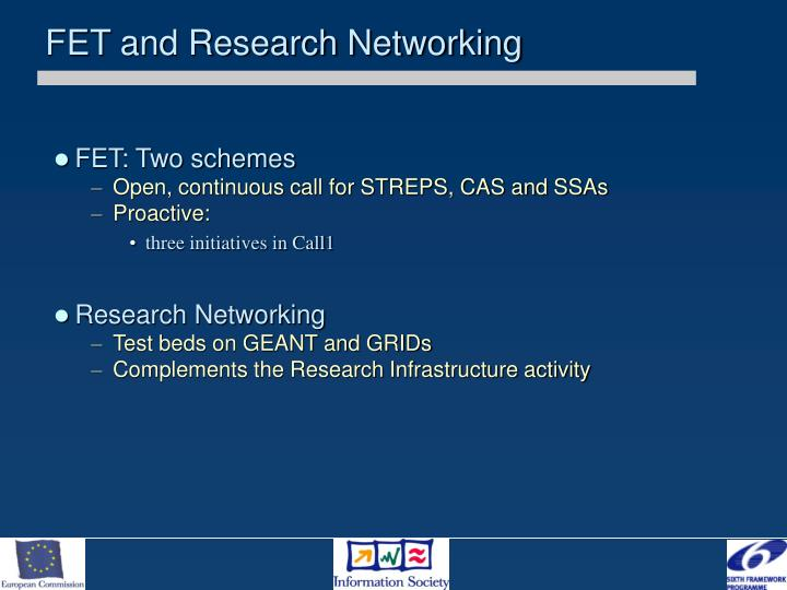 FET and Research Networking