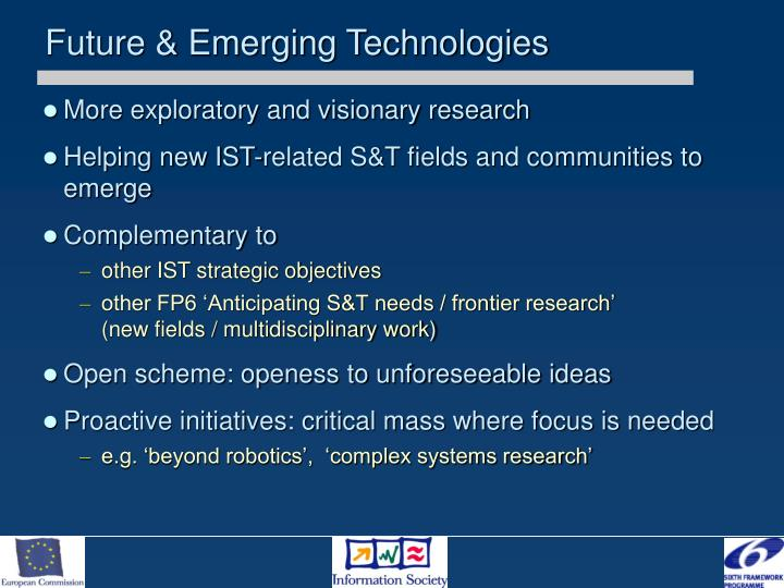 Future & Emerging Technologies