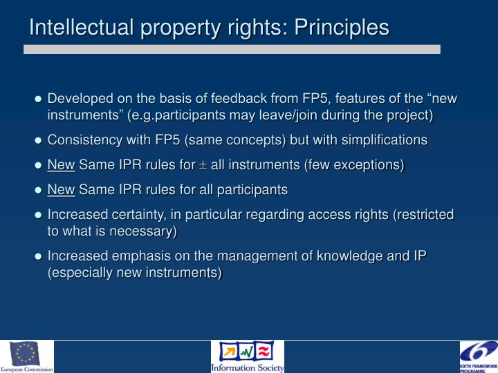 Intellectual property rights: Principles