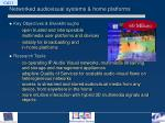 networked audiovisual systems home platforms