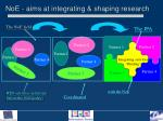 noe aims at integrating shaping research