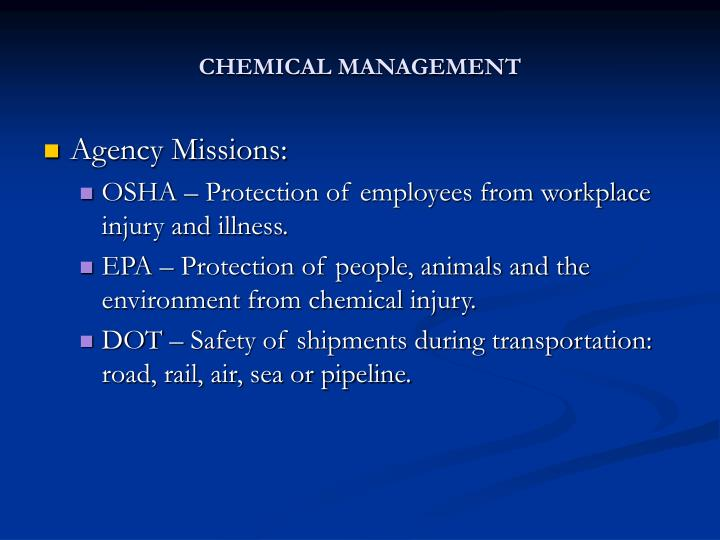 Chemical management1