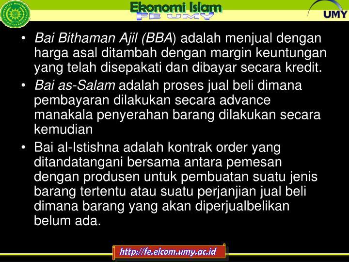 Bai Bithaman Ajil (BBA