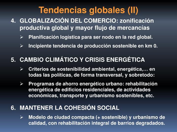 Tendencias globales (II)