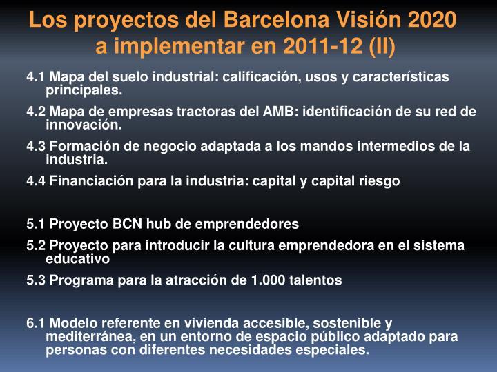 Los proyectos del Barcelona Visión 2020