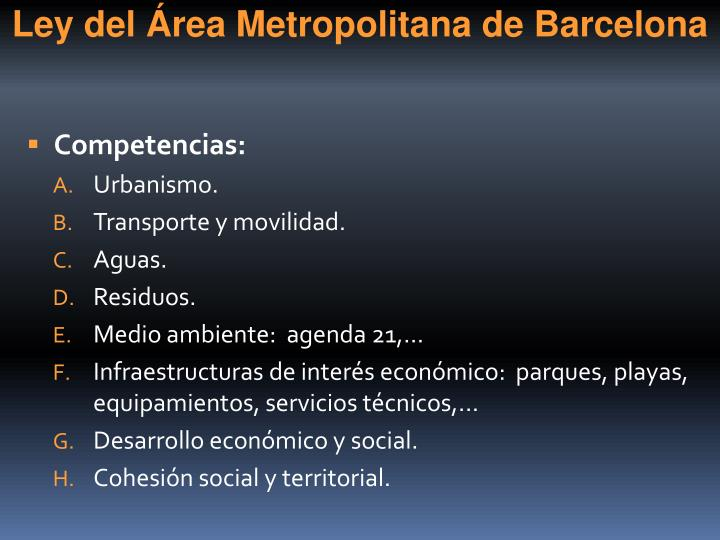 Ley del Área Metropolitana de Barcelona