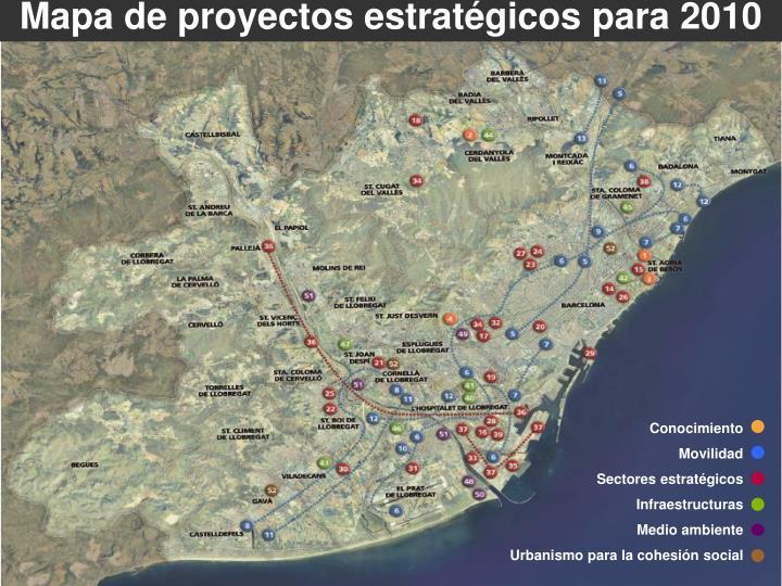 Mapa de proyectos estratégicos para 2010